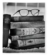 Old World Books Fleece Blanket