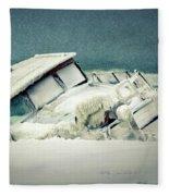 Old Wreck Fleece Blanket