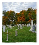 Old Yard Cemetery Stowe Vermont Fleece Blanket