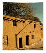 Oldest House In Santa Fe Fleece Blanket