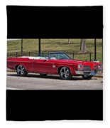 Oldsmobile Delta Royale 88 Red Convertible Fleece Blanket