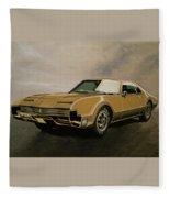 Oldsmobile Toronado 1965 Painting Fleece Blanket