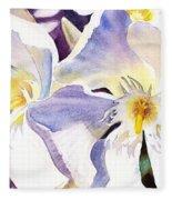 Oleander By Irina Sztukowski Fleece Blanket