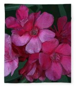 Oleanders In Pink Fleece Blanket