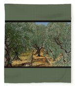 Olive Fleece Blanket