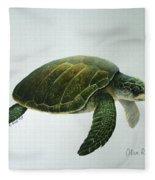Olive Ridley Turtle Fleece Blanket