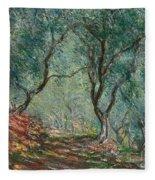 Olive Trees In The Moreno Garden Fleece Blanket