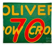 Oliver 70 Row Crop Fleece Blanket