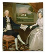 Oliver And Abigail Wolcott Ellsworth 1801 Fleece Blanket
