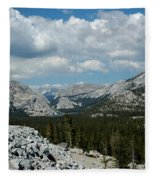 Olmsted View Down The Tree Filled Road Fleece Blanket