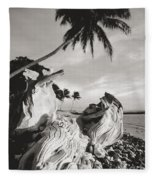 Olowalu Driftwood Fleece Blanket