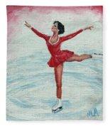 Olympic Figure Skater Fleece Blanket