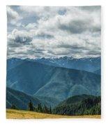 Olympic Mountains Fleece Blanket