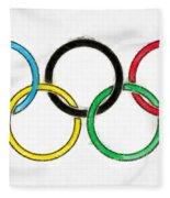 Olympic Rings Pencil Fleece Blanket