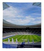 Olympic Stadium Berlin Fleece Blanket
