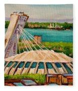 Olympic Stadium  Montreal Fleece Blanket