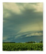 Ominous Nebraska Outflow 001 Fleece Blanket