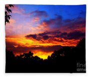 Ominous Sunset Fleece Blanket