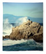 On A Clear Day Cropped Fleece Blanket