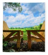 On A Pretty Summer Day Oil Painting Fleece Blanket
