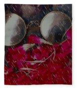 On A Rainy Day Its Fine To Be Inside Fleece Blanket