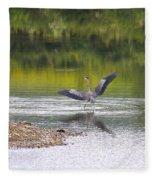 On A Stroll In The River Fleece Blanket