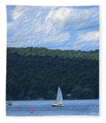 On Cayuga Lake Fleece Blanket