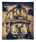 On Duty And Into Fire_dramatic Fleece Blanket
