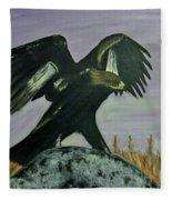 On Eagles Wings Fleece Blanket