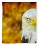 On Fire The American Bald Eagle Fleece Blanket