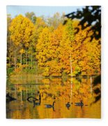 On Golden Pond 2 Fleece Blanket