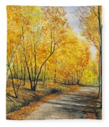 On Golden Road Fleece Blanket