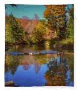 On Kinzua Creek Fleece Blanket