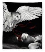 On Silent Wings Fleece Blanket