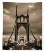 On St Johns Bridge Fleece Blanket