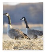 On The Bank Fleece Blanket