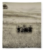 On The Battlefield - Gettysburg Fleece Blanket