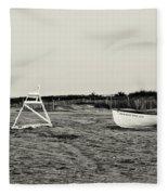 On The Beach - Avalon New Jersey In Sepia Fleece Blanket