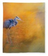 On The Cusp Of Autumn Fleece Blanket
