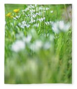 On The Garden Path Fleece Blanket