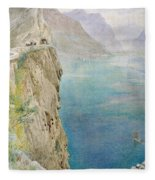 On The Italian Coast Fleece Blanket