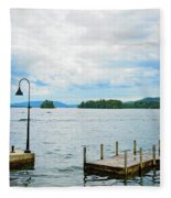 On The Lake Fleece Blanket