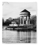 On The Lake At Fdr Park Fleece Blanket