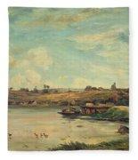 On The Loire Fleece Blanket