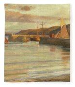 On The North Devon Coast Fleece Blanket