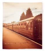 On The Platform Fleece Blanket