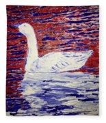 On The Pond Fleece Blanket