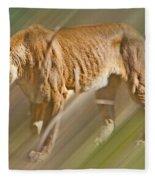 On The Prowl Fleece Blanket