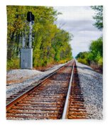 On The Right Track Fleece Blanket