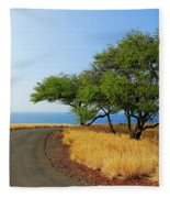 On The Road To Lapakahi Fleece Blanket